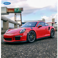 welly 1:24 Porsche 911 GT3 RS red car alloy car model simulation car decoration collection gift toy Die casting model boy toy