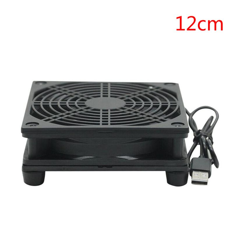 9cm/12cm Cooling <font><b>Fan</b></font> DC <font><b>5V</b></font> <font><b>USB</b></font> Power Supply Quiet <font><b>Fan</b></font> for Router TV Set-Top Box E65A image