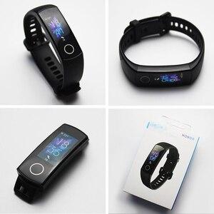Image 5 - Huawei honor band 4 banda 5 0.95 polegadas amoled tela colorida 5atm impermeável nadar postura detectar freqüência cardíaca sono snap
