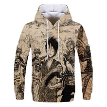 Anime One Piece Hoodies 3D Print Pullover Sweatshirt Monkey D Luffy Ace Sabo Shanks Law Battle Tracksuit Outfit Casual Outerwear(China)