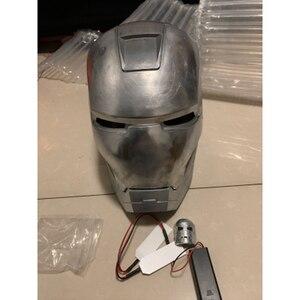 Image 4 - MKII 1: 1 Алюминиевый шлем первичного цвета, неполированный и самодельная роспись, Все металлы имеют светлый свет