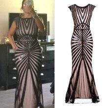 فستان طويل للحفلات الراقصة للنساء 1920s فستان مطرز بالترتر بتصميم عتيق لحفلات الزفاف من Gatsby (أسود/وردي/أخضر/فضي)