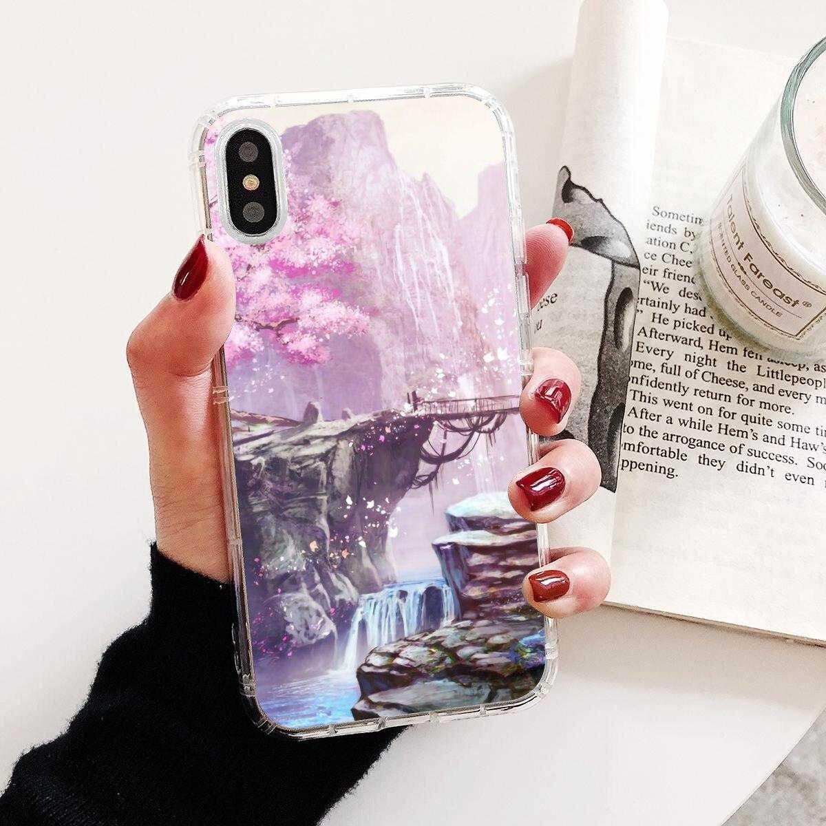 Anime Plum Cherry Blossom Girl For Motorola Moto G G2 G3 X4 E4 E5 G5 G5S G6 Z Z2 Z3 C Play Plus Good Silicone Phone Case
