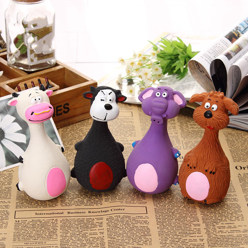 Dog Toys Latex Chew Squeaker Squeaky Sound Playing Toys Animal Shape Pet Puppy Dog Toy 8