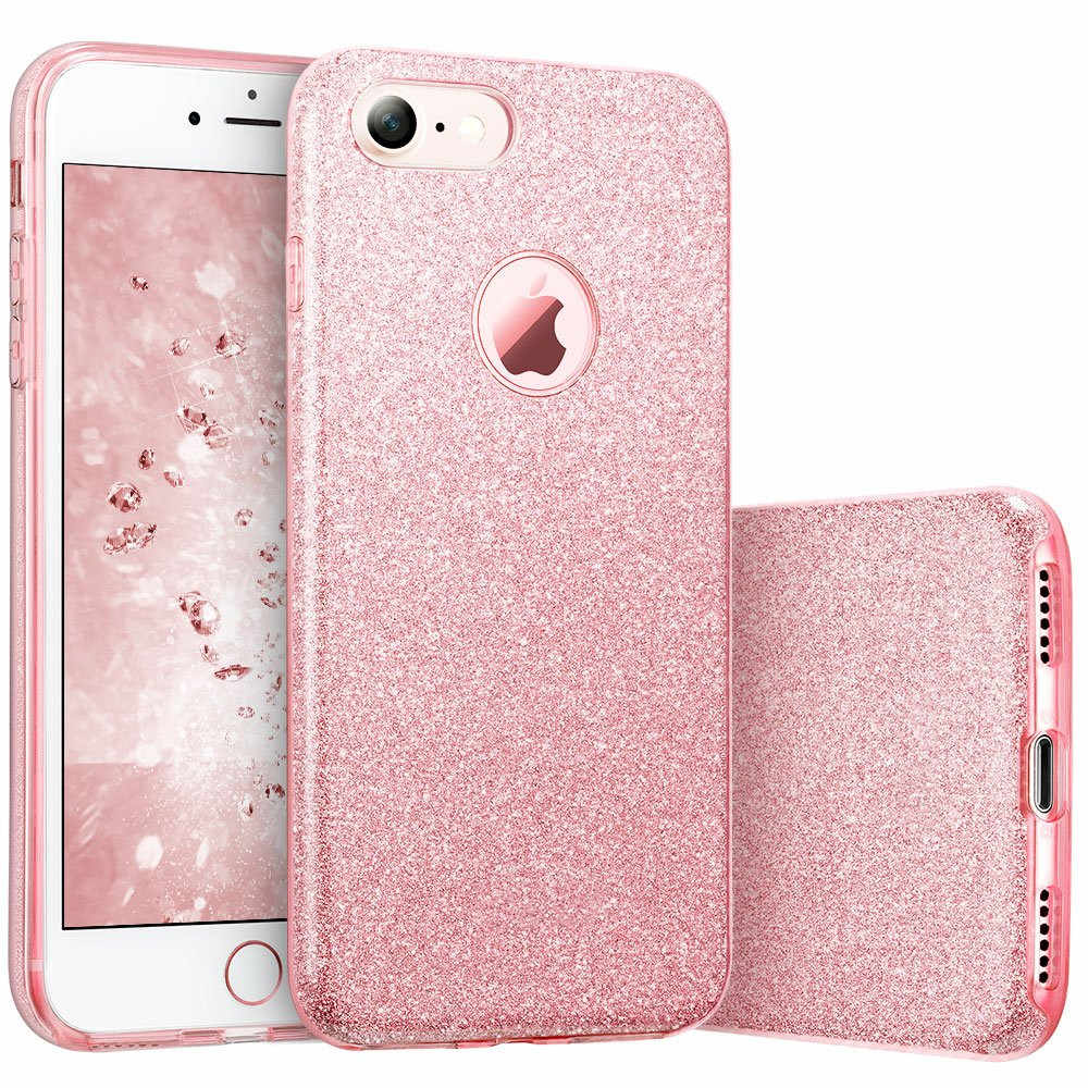 LSDI iPhone 5 5s SE Phone Case Makeup Glitter Sparkle Bling Cover for Girls Women for iPhone 6 6s 7 8 Plus X Xr Xs 11 Pro Max