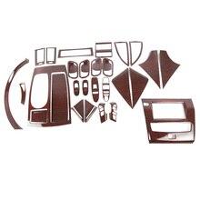 For NIssan Patrol  Y62 mahogany interior modification center control decoration strip sticker Patroly 62 decorative supplies