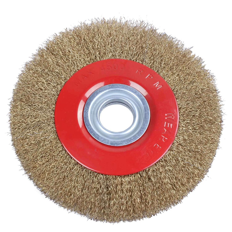Wire Brush Wheel For Bench Grinder Polish + Reducers Adaptor Rings,8inch 200Mm