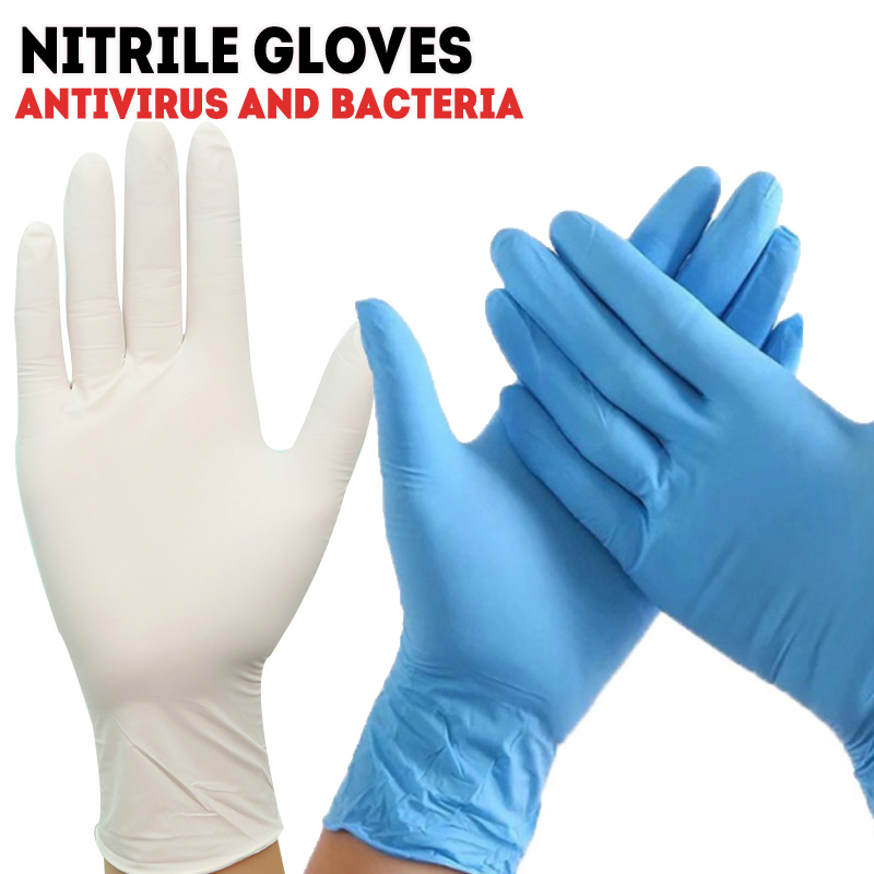 High Elasticity PVC Nitrile Disposable Latex Free Gloves Box 100PCS/ Set Medical Inspection Protective Surgical Anti Virus AF008