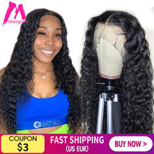 Water Wave lace front wig 30 inch brazilian human hair frontal wigs short curly pre plucked natural remy for black women hd full