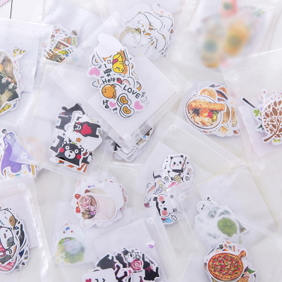 Japanese Cute Sailor Moon Panda Plant Paper Diary Food  Stickers Flakes Scrapbooking Stationery School Supplies