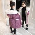 Новинка 2020, брендовая детская куртка для девочек, плотное длинное зимнее теплое пальто, Модная парка, верхняя одежда с капюшоном, одежда для ...
