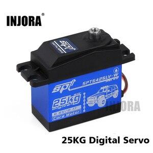 1PCS Metal Gear Waterproof SPT 5425LV 5435LV 25KG 35KG Large Torque Digital Servo for RC Car Crawler SCX10 TRX4 RC Car Parts