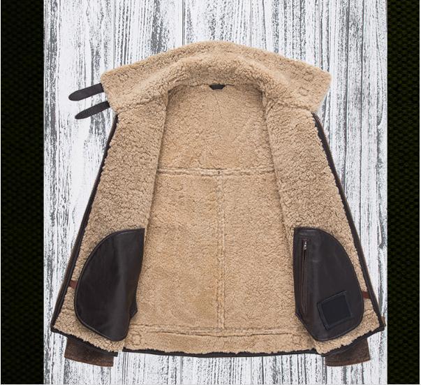 H9f09fc63b225450fb215ac1a6f305ecdK Free shipping,Winter thick Genuine Sheepskin coat,B3 Wool Shearling,warm fur jacket,mens plus size genuine leather jackets.