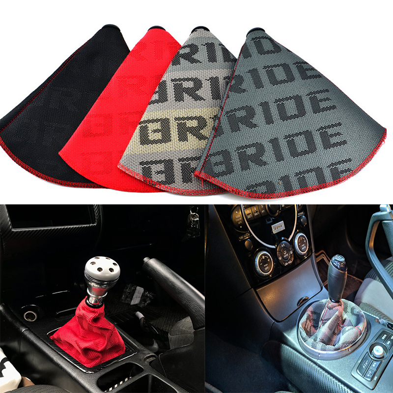 Boot-Cover Shift-Knob Bride Canvas Jdm-Style Universal Lever Racing