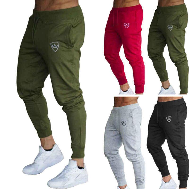 Pantalones Deportivos Largos Para Hombre Pantalon Ajustado Para Gimnasio Correr Corredores Deportivos De Chandal Novedad De 2020 Pantalones De Correr Aliexpress