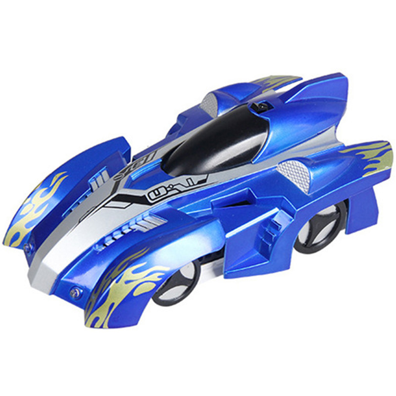 Remote Control Climbing Rc Car With Led Lights 360 Degree Rotating Stunt Toys Antigravity Machine Wall Car Gift Blue