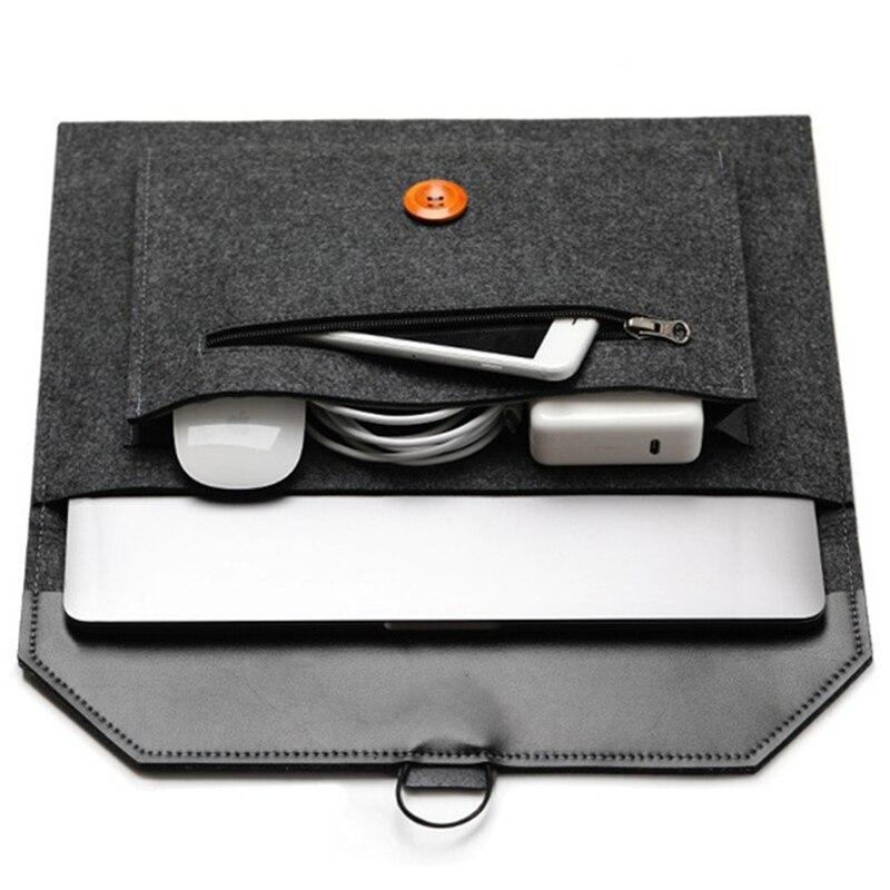 Модная сумка для ноутбука из шерстяного войлока, портативный защитный чехол для ноутбука 11, 12, 13, 14, 15, 15,6 дюймов, чехол-Крышка для ПК, планшета...