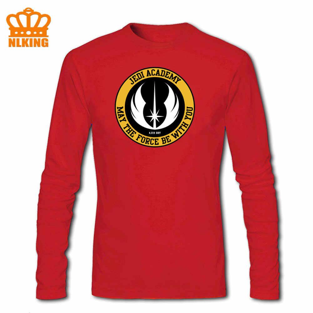 3D Star JEDI Academy Wars koszulka męska Rebel Symbol Tshirt Retro z długim rękawem ostatni JEDI T koszula bawełniana styl miejski Darth Vader topy