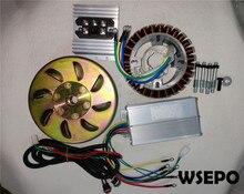 5000w 27 pólo 48v/60v/72v dc gerador construir kit (estator, rotor, controlador, retiifer etc.) se encaixa em 19mm afilado 55mm eixo de saída