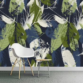 Custom 3D Abstract Retro Watercolor Green Leaf Photo Mural Living Room Sofa Bedroom Background Wall Murals Wallpaper Home Decor beibehang custom mural wall paper southeast green banana leaf wallpaper bedroom living room background wall decor wallpaper roll