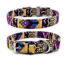 Adjustable Dog collar Personalized Pet Dog/cat Collars Boho style high quality pet Leash Collar