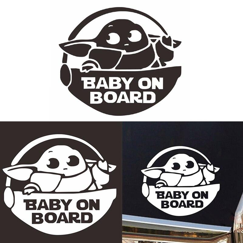 «Малыш в автомобиле», черная лазерная наклейка на борту с английским ребёнком, 3D наклейка на автомобиль, Виниловая наклейка для всей семьи, ...