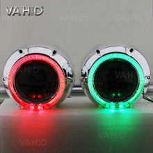 CH25 3.0inch 35w 12V hid bixenon projector hid kit with crystal angel eye color white blue red yellow green purple