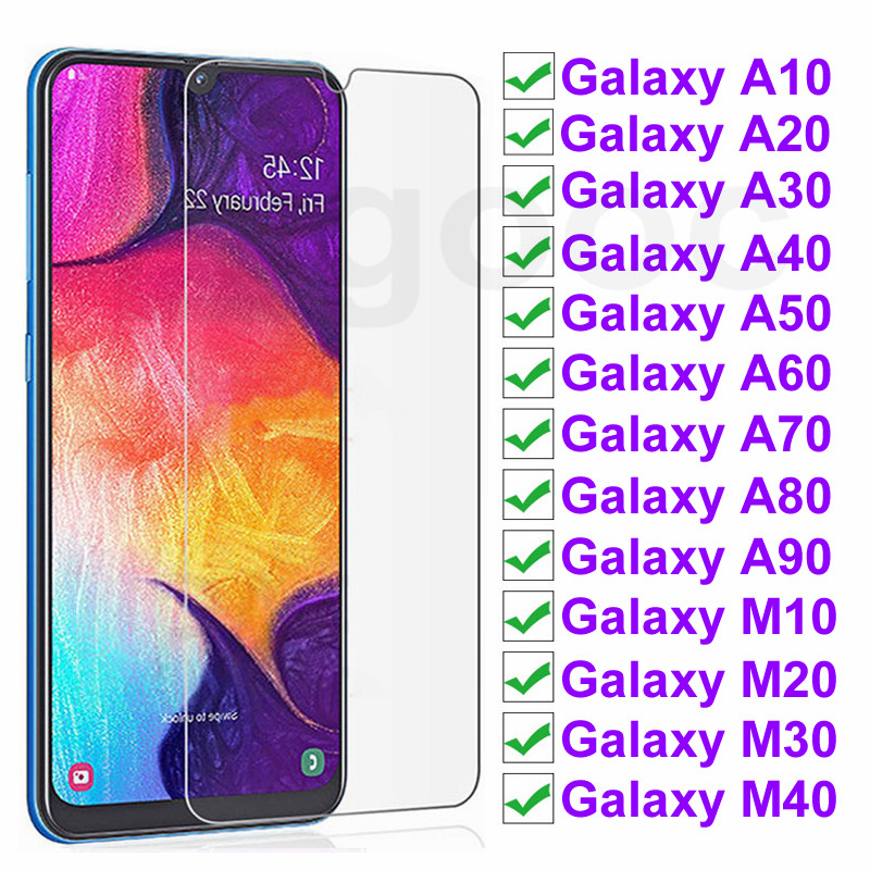 9H Protective Glass On For Samsung Galaxy A10 A20 A30 A40 A50 A60 Screen Protector For Samsung A70 A80 A90 Glass M10 M20 M30 M40