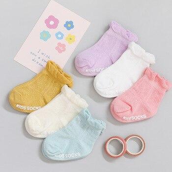 3 пар/лот Детские носки для девочки летние тонкие Детские носки для новорожденных; Модные брюки из хлопка для малышей; Повседневные детские носки для мальчиков летние Стиль