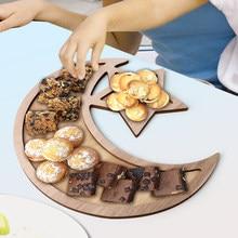 Eid Mubarak de hojaldre para postres bandeja Ramadán Kareem comida Bandeja de postres musulmán islámico decoración de fiesta comida vajilla