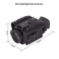Mini Infrared Night Vision Monocular 5X Zoom Night Vision Goggles 200M Distance Night Watching Observation and Digital Ir Huntin