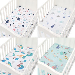 Crib-Sheets Mattress-Covers Baby Baby-Boys-Girls Bed for Fitted Printed Soft Cotton 89--44cm