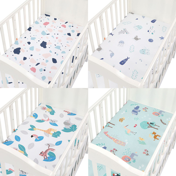 Newborn Baby 100% Cotton Fitted Crib Sheets 89*44cm Cotton Soft Bed Sheet Baby Bed Mattress Covers Printed for Baby Boys Girls baby bed mattress cover soft protector cartoon printed newborn baby bedding for cot 100% cotton crib fitted sheet size 130 70cm