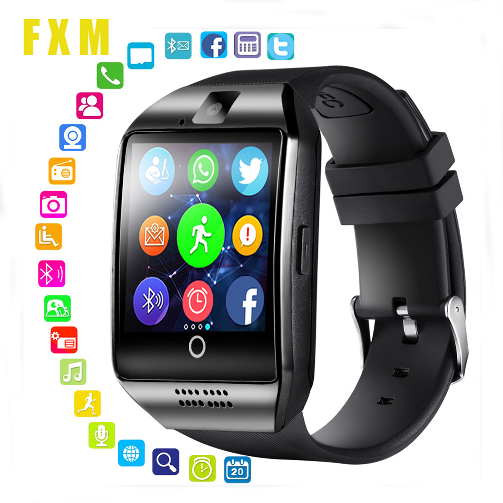 FXM Digital Watches Smart Watch With Camera Bluetooth Smartwatch Sim Card Slot Fitness Activity Tracker Sport Watch For Android