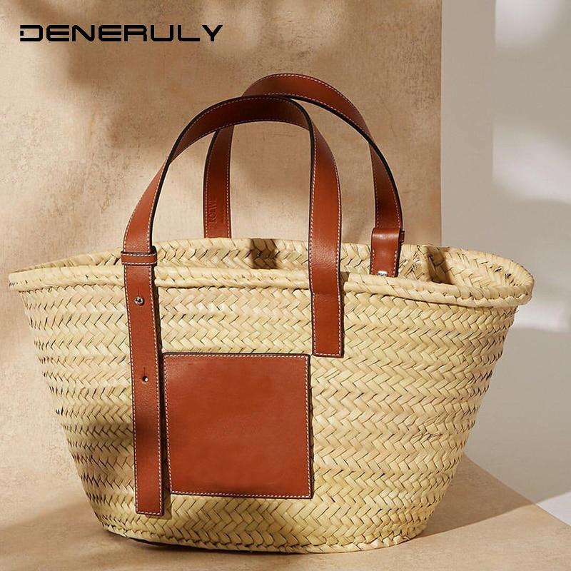 Beach Rattan Bag Women New Elegant Straw Bag Bolsos Mujer De Marca Famosa 2019 Bolso Paja Bolso Playa Designe Luxury Handbags 6
