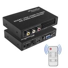 Переходник С EU Scart на HDMI-совместимый Переходник RCA VGA Scart на HDMI-совместимый переходник переключатель EU Scart in на HDTV