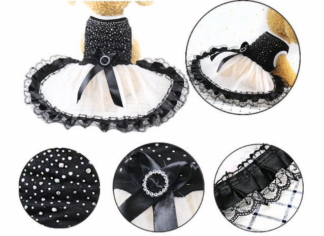 כלב טוטו שמלת תחרה שמלת חמוד חיות מחמד חתול נסיכת הלבשה בגדי מסיבת שמלת עבור כלב