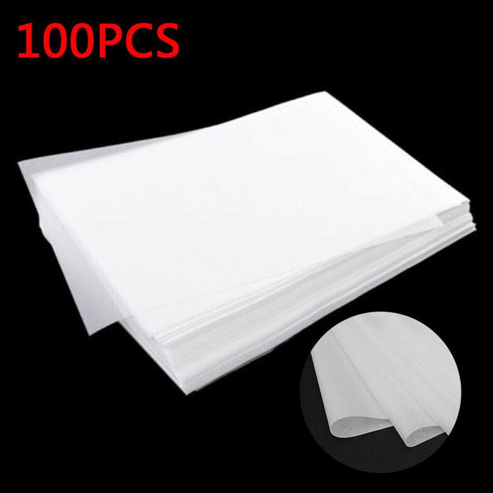 100pcs Translucent Tracing Paperfor Patterns Calligraphy Craft Writing Copying Drawing Sheet Paper School Office Supplies