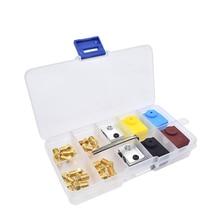 Extruder Druckkopf 1,75mm Filament Düse und Wärme Block Kit 2,0mm Hex Wrench für A8 CR-10 Ender 3 3D Drucker