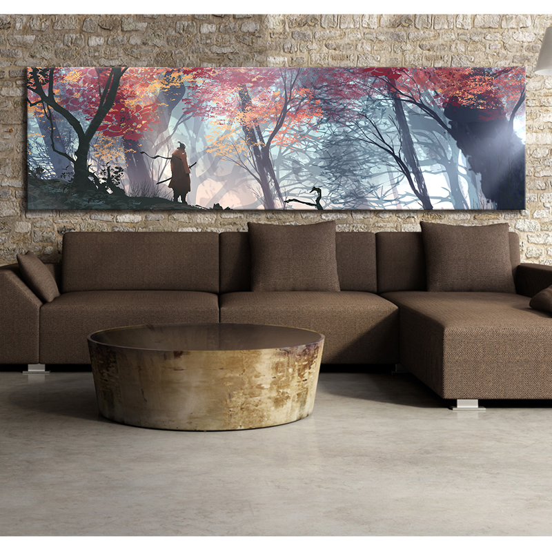 Large Size Game Poster Wall Decor Painting SEKIRO Shadows Die Twice Picture Video Games Art Frameless Painting Wall Art Unframed 1
