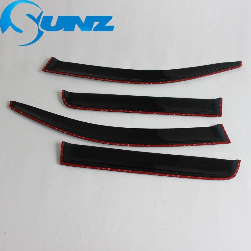 Image 5 - Car styling Acrylic Window Wind Deflector Visor Rain Sun Guard Vent For Mitsubishi Outlander 2008 2009 2010 2011 2012 2013 SUNZ