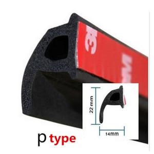 Image 2 - 6M Car Door Seal Strip Rubber Big D Type Z Type P Type Waterproof Trim Sound Insulation Anti Dust 6 Meters Car Styling seal