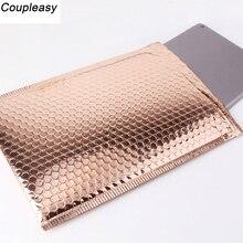 50 ชิ้น/ล็อตทองชุบกระดาษฟองซองกระเป๋าMailersจัดส่งกันน้ำBubble Mailing Bag