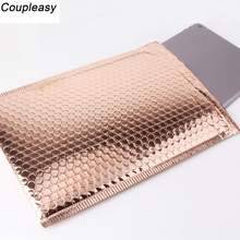 50PCS/Lot Light Gold Plating Paper Bubble Envelopes Bags Mailers Padded Shipping Envelope Waterproof Bubble Mailing Bag