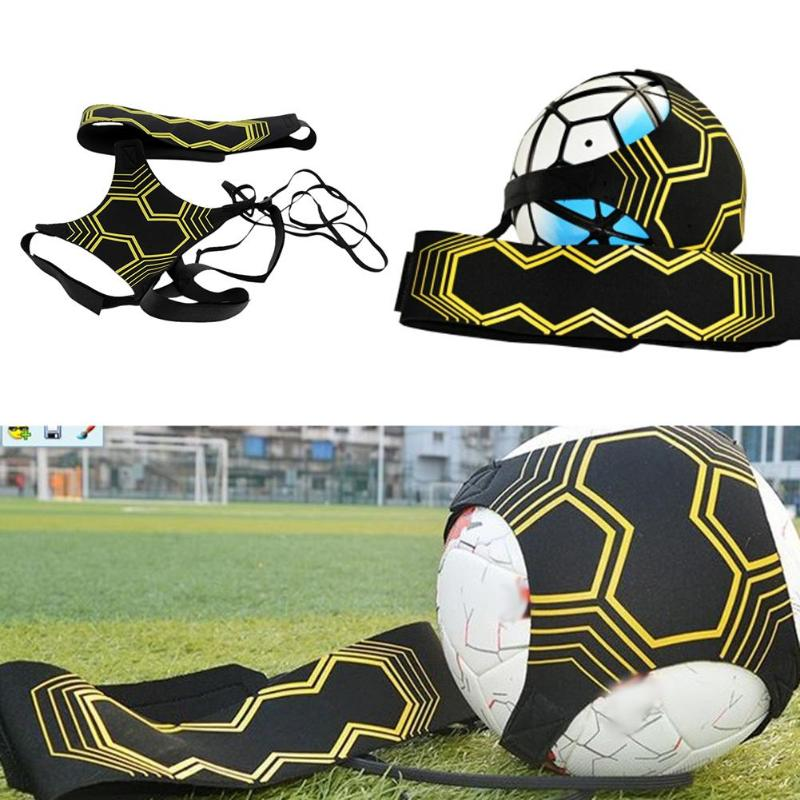 Soccer Ball Practice Belt Football Kick Training Belt Adjustable Trainer Train Equipment Practice Belt Hands Kids Adult Soccer