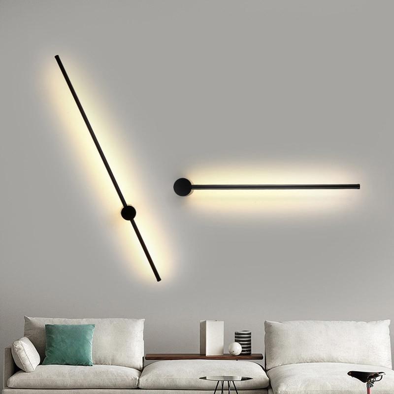 الحديثة وحدة إضاءة LED جداريّة مصباح طويل مصابيح تعليق للزينة بسيطة الشمال أريكة غرفة المعيشة حائط الخلفية ضوء غرفة نوم السرير مصباح أرضي