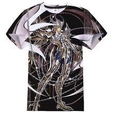 T Shirt Fashion Anime Saint Seiya 3D Printed T-shirt Men/Women Sports Casual O-Neck Streetwear Tshirt Harajuku Trendy Tops