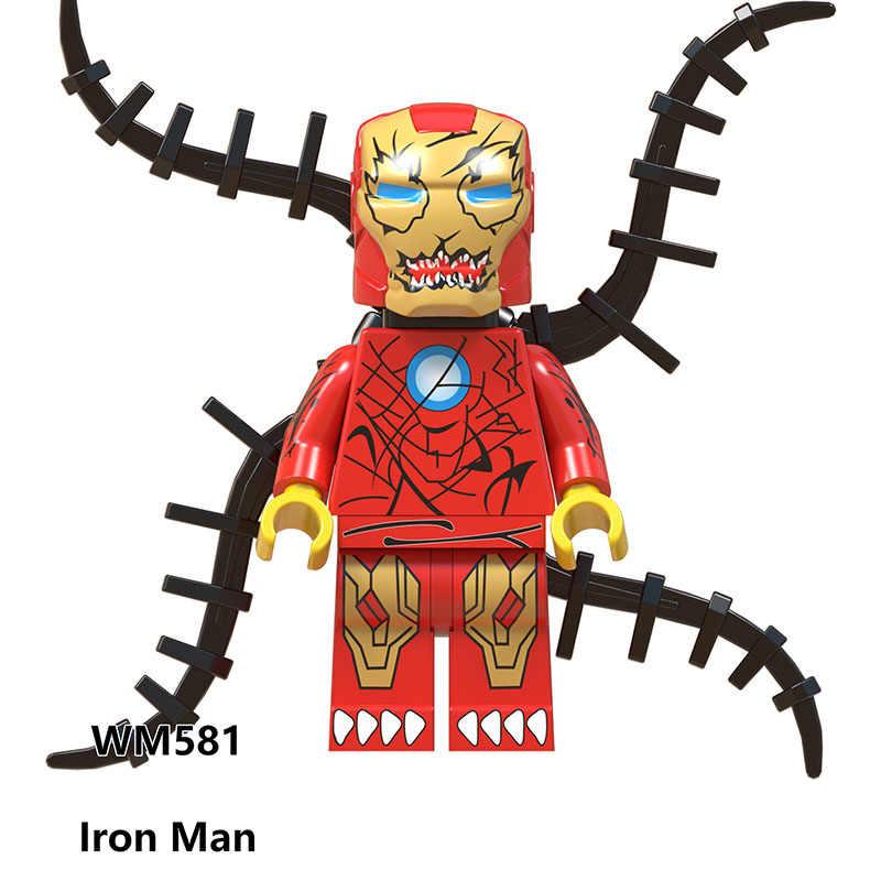 Legoed homem aranha veneno gato preto morbius o vampiro vivo batman diy modelo kits de construção blocos brinquedos figuras para crianças