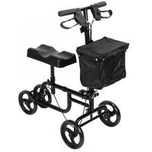 Скоростная Складная коленные ходунки скутер с тормозной корзиной, регулируемый по высоте приводная тележка трость