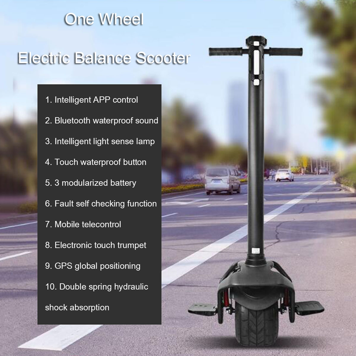 Single Wheel Self Balancing Electric scooter With Intelligent APP Control 8